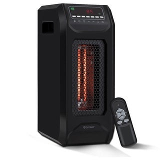 Costway Portable Electric Space Heater 1500W w/ Timer Remote Control Tip-Over Protection - Black
