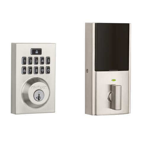 Kwikset 913CNT-S SmartCode Contemporary Single Cylinder Touchpad Electronic Deadbolt
