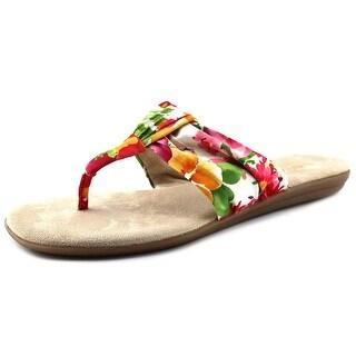 Aerosoles Chlairvoyant Women Open Toe Canvas Multi Color Thong Sandal