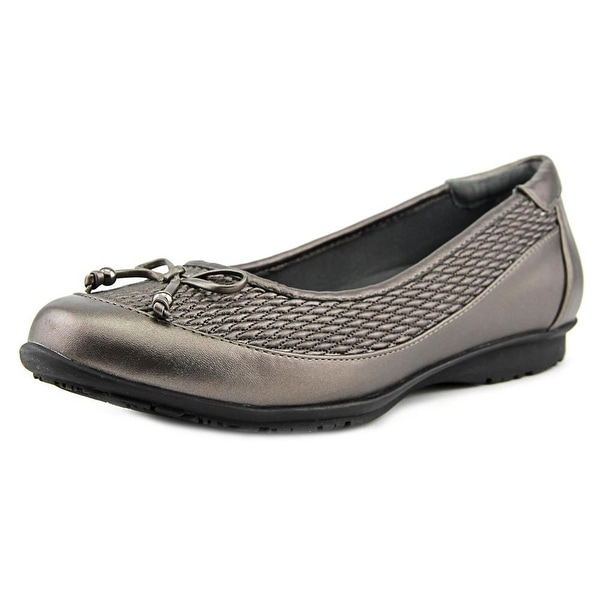 FootSmart Kathleen Women W Round Toe Synthetic Gray Flats