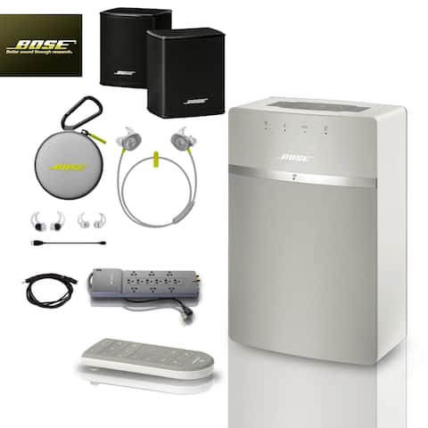 Bose SoundTouch 10 (White) + Citron SoundSports + 3 pc Acc Bundle