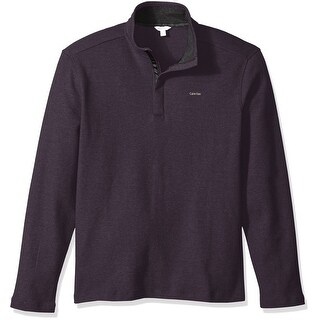 Calvin Klein NEW Purple Mock-Neck Mens Size 2XL Quarter Zip Sweater