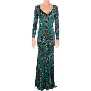 Aqua Womens Evening Dress Printed Matte Jersey - 6
