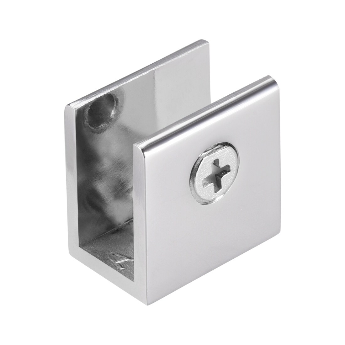4x Glass Shelf Support Clamps Bracket 3-13mm Zinc Alloy Chrome Polished #US