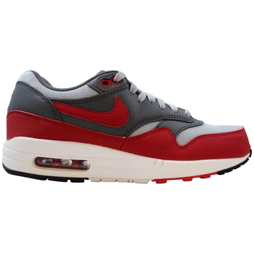 Nike Air Max 1 Essential Wolf GreyGym Red Dark Grey 537383 062 Men's