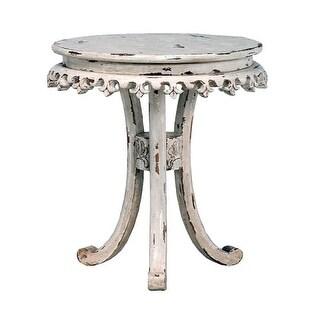 GuildMaster 717527 Fleur-De-Lis 27 Inch Diameter Wood Accent Table