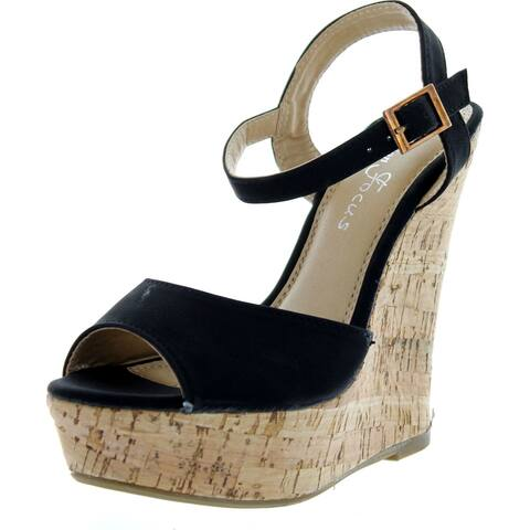Fashion Focus Womens Ardo-3 Wedge Sandals - Beige - 10 B(M) US