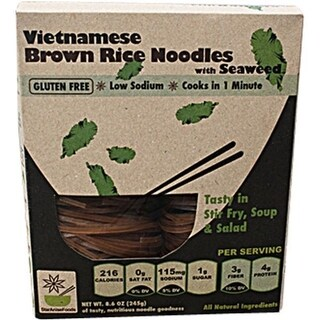 Gluten Free Vietnamese Brown Rice Noodles With Seaweed 8.6 Oz 4