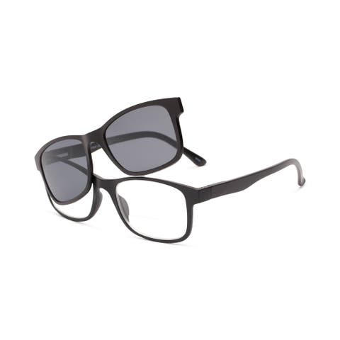 Readers.com The Peace Polarized Magnetic Bifocal Reading Sunglasses Retro Square Reading Glasses