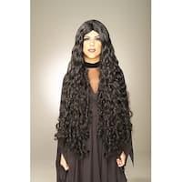Mesmerelda Long Goddess Black Adult Costume Wig
