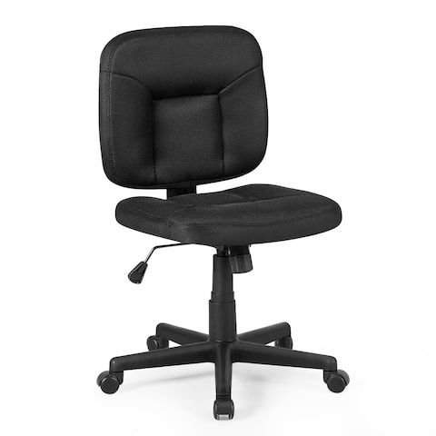 Costway Mesh Computer Chair Low Back Adjustable Task Chair Armless