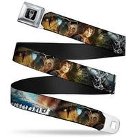 Smaug Icon Full Color Black Gray The Hobbit Collage Bilbo Baggins Pose Seatbelt Belt
