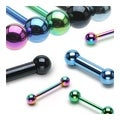 """10 Pieces Rainbow Colored Titanium Anodized Barbell Package - 14 GA 5/8"""" Long (5mm Balls) - Thumbnail 0"""