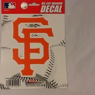 San Francisco Giants 4 X 5 Die Cut Decal Mlb Car Or Laptop