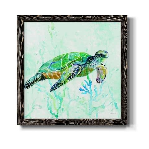 Sea Turtle Swim I-Premium Framed Canvas - Ready to Hang