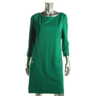 Eliza J Womens Wear to Work Dress Ponte A Line