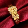 Gold Belt Buckle Design Ring - Thumbnail 2