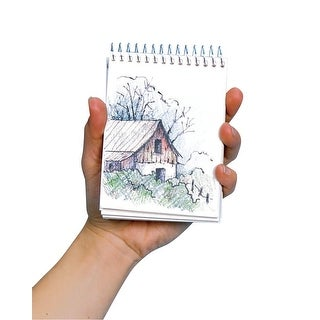 Bee Paper Spiral Binding Mini Sketchbook, 60 lb, 3-1/2 X 4-3/4 in, 80 Sheets, White