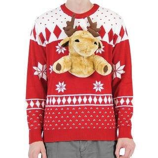 Men's Ugly Holiday Sweater - 3-D Plush Moose on Fair Isle Winter Print|https://ak1.ostkcdn.com/images/products/is/images/direct/53e3a8beb6c3e9829255a10e493b51f3870b857b/Men%27s-Ugly-Holiday-Sweater---3-D-Plush-Moose-on-Fair-Isle-Winter-Print.jpg?impolicy=medium