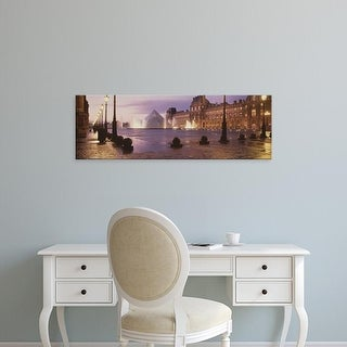 Easy Art Prints Panoramic Images's 'Louvre Museum Paris France' Premium Canvas Art