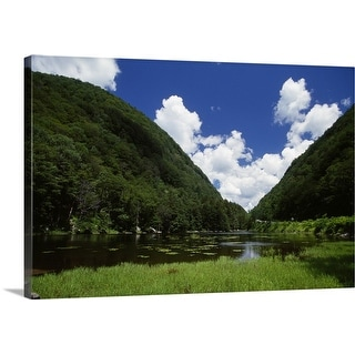 """""""Notch Lake in summer, Catskill Mountain State Park, New York"""" Canvas Wall Art"""