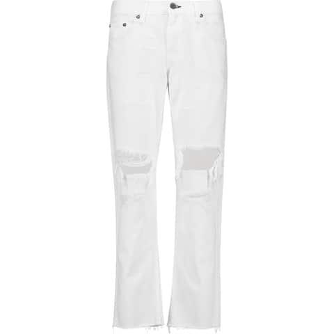 Rag and Bone X Boyfriend Distressed White Jeans 24