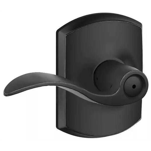 Schlage F40-ACC-GRW Accent Privacy Door Lever Set with Decorative Greenwich Trim