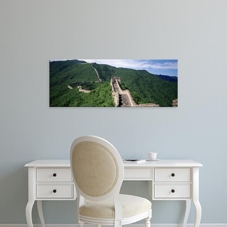 Easy Art Prints Panoramic Images's 'View Of The Great Wall Of China, China' Premium Canvas Art