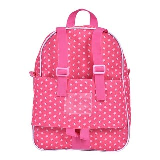 Costway 18'' Doll Travel Carrier Backpack Cute Schoolbag Storage Bag Kids Girls Pink