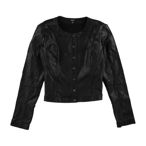 GUESS Womens Jackee Bomber Jacket, Black, X-Large