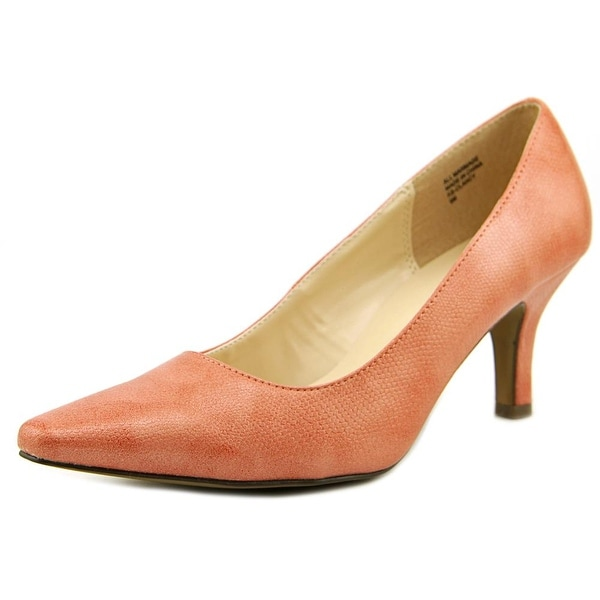 Karen Scott Clancy Women Pointed Toe Synthetic Pink Heels