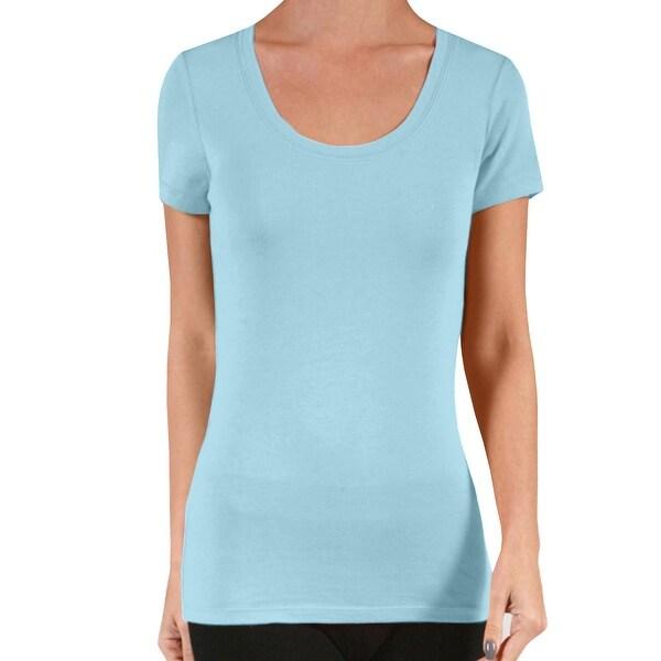 1652da3ed24e NE PEOPLE Women's Comfy Short Sleeve Scoop Neck Hip Length Shirts Top