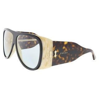 Gucci GG0149S-002 Black/Havana Aviator Sunglasses - 63-11-130
