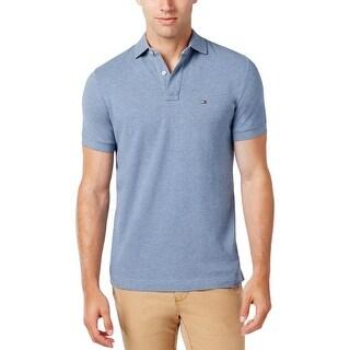 Tommy Hilfiger Mens Polo Shirt Pique Ribbed Trim