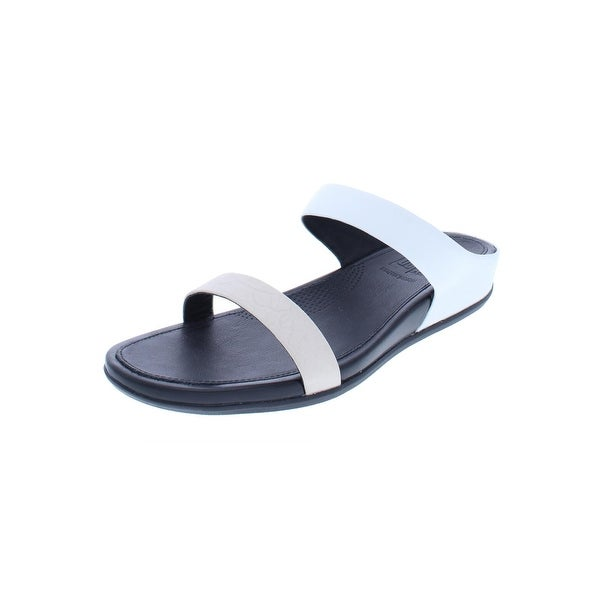d29d5efae4b2 Shop Fitflop Womens Banda Slide Sandals Leather SupercomFF - On Sale ...