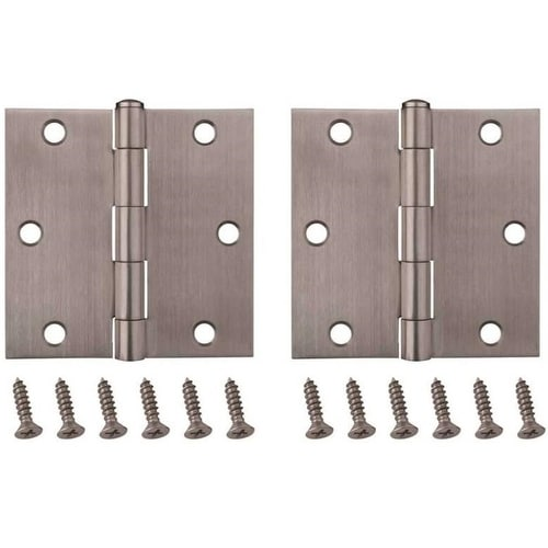 Prosource 20338SS-35S-DB-PS Residential Door Hinges, 3-1/2 x 3-1/2, 2/Pack