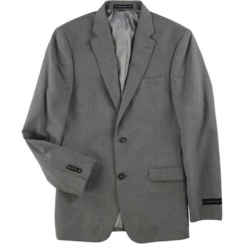 Tommy Hilfiger Mens m Two Button Blazer Jacket, Grey, 42 Long