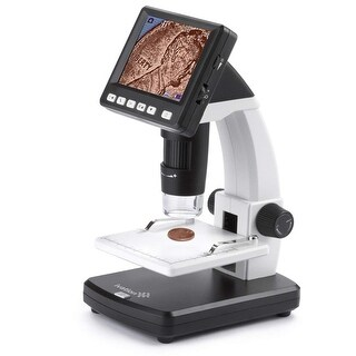 Ivation Digital HD LCD Microscope 14MP Microscope w/220x Optical & 500x Magnification, 3.5 LCD Screen, Photo/Video Capture,