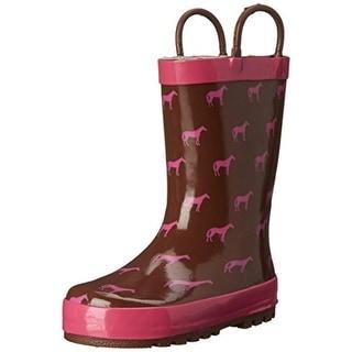 Western Chief Girls Tiny Horses Waterproof Rain Boots - 10 medium (b,m)