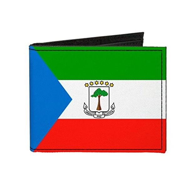 Buckle-Down Canvas Bi-fold Wallet - Equatorial Guinea Flag Accessory
