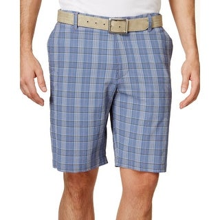 Tommy Bahama NEW Blue Mens Size 33 Textured Active Casual Shorts