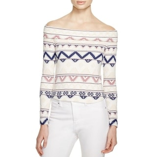 Ella Moss Womens Pullover Top Pattern Off-The-Shoulder