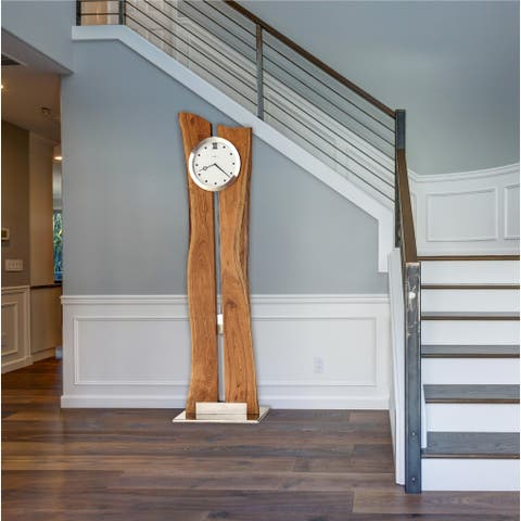 Howard Miller Otto Solid Hardwood Live-edge Grandfather Clock