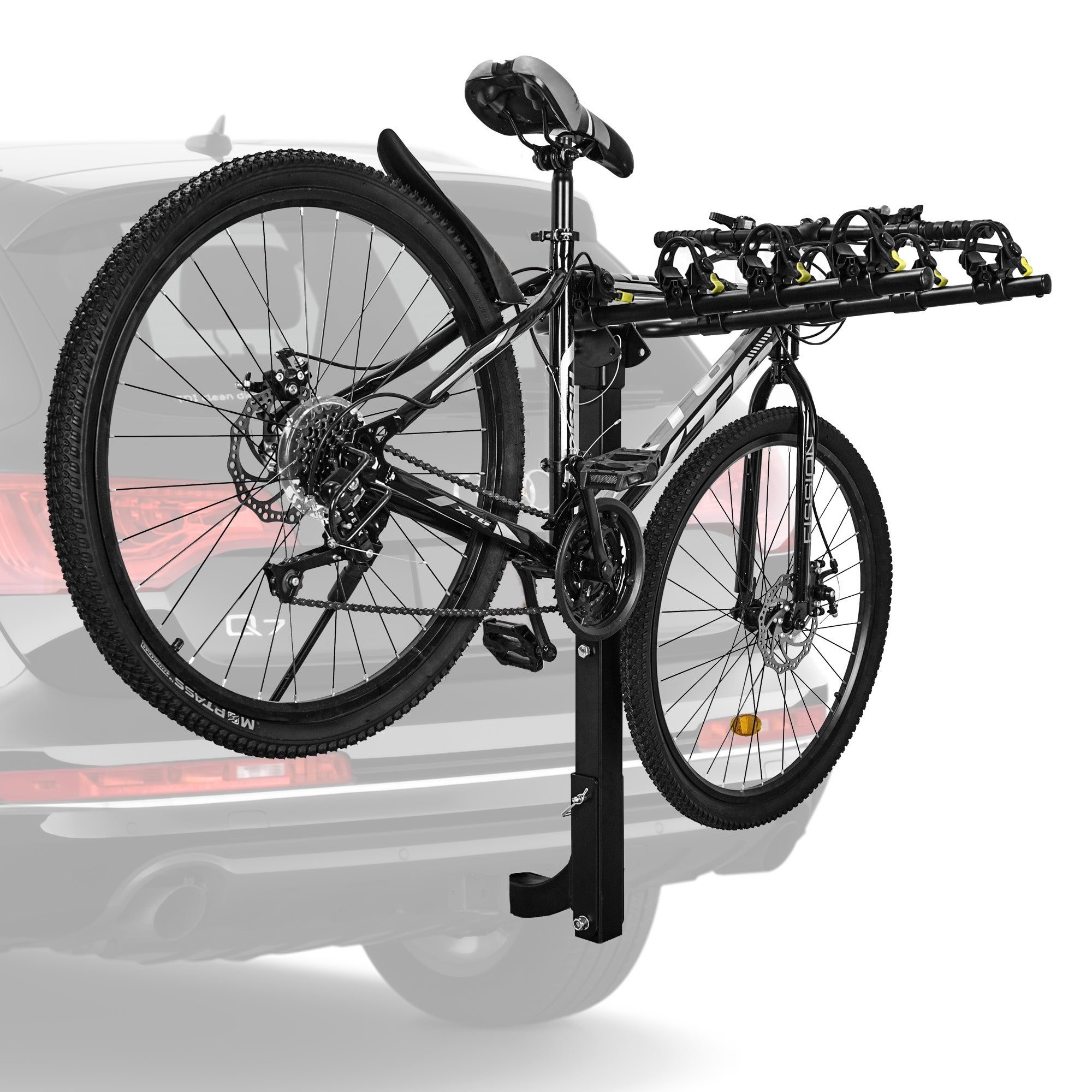 Bike Carrier Rack >> Avenn Premium 4 Bike Carrier Rack Hitch Mount Swing Down Bicycle Rack With 2 Inch Receiver