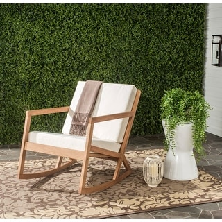 Link to Safavieh Outdoor Living Vernon Natural/Beige Rocking Chair Similar Items in Outdoor Sofas, Chairs & Sectionals