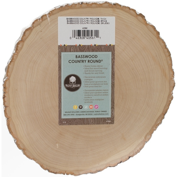 "Basswood Country Round-7"" To 9"""