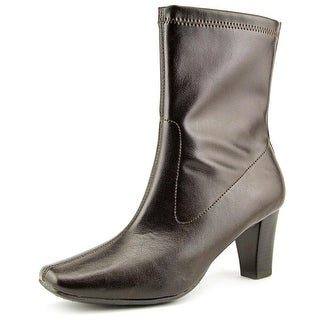 Aerosoles Geneva Women Round Toe Synthetic Brown Ankle Boot