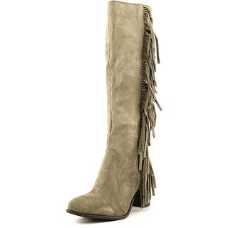 Luichiny News Worthy Women Pointed Toe Suede Knee High Boot
