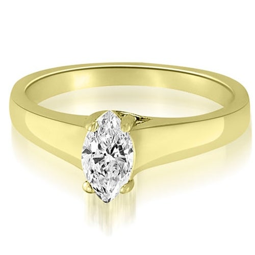 0.75 cttw. 14K Yellow Gold Trellis Solitaire Marquise Diamond Engagement Ring
