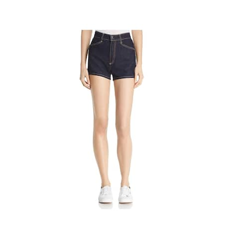 Rag & Bone Womens Denim Shorts Mid-Rise Dark Wash